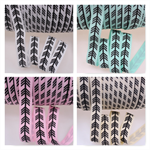 FOE FOLD OVER ELASTIC - OIL ARROWS PRINTS BY THE METRE