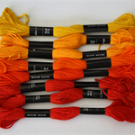 Embroidery Floss - Red/Orange - Pack of 8