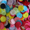 LAST SET 60 Assorted Satin Flower Embellishments