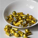 55 Golden Yellow 'Scribble' Beads