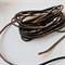 3 metres of Black Leather Cord Thong String 3mm x 2mm Thick, Length 3m
