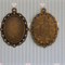 12 Oval Pendant Setting Fits Cabochon 25x18mm Antique Bronze Jewellery Making