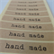 """Kraft """"Hand Made"""" labels - 30 + 3 stickers - 33 labels in total"""
