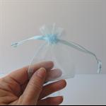 10 x Small sky blue Organza Bags (7cm x 9cm)