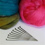 One of Each - set of 9 felting needles