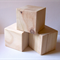 WOODEN BLOCKS 7cm Pine Blocks, Toymaking Set of 3, Rounded Edges