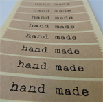 "Kraft ""Hand Made"" labels - 30 + 3 stickers - 33 labels in total"