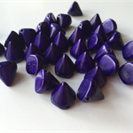 Purple semi precious cone beads