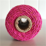 100mts Bakers Twine 12ply HOT PINK/GOLD GLITTER