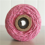 100mts Bakers Twine 12ply PINK/SILVER GLITTER