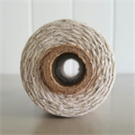 100mts Bakers Twine 12ply NATURAL/SILVER GLITTER