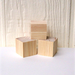 WOODEN BLOCKS, 7cm Pine Blocks Toymaking Set of 3, Building Blocks