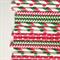 25 XMAS Paper Straws MIX