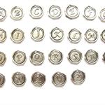 Alphabet R (1pc.) Wax Stamped Alphabet Letter Charm/Pendant