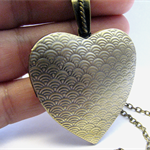 Brass Large Heart locket Pendant (without chain)