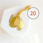 🔴Mini (20) Matte Metallic Gold Lustre Gift Tags Labels Wedding Gift Wrap