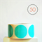 Aqua Circle Stickers {50} Large 50mm | Gift Envelope Seals DIY Supplies Events