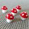 5 Resin Mushroom Charms 12x10mm
