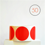 Red Circle Stickers {50} Large 50mm | Gift Envelope Seals DIY Supplies Events