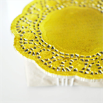 Gold {20} Foil Doilies | Metallic Foil Doilies | French Lace Doilies