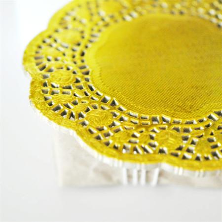 Gold {20} Foil Doilies | Metallic Foil Doilies | French Lace Doilies