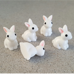 5 small Rabbit resin charms