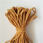 MUSTARD 5mm MACRAME Cord 20 metres 100% cotton