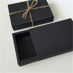 10 BLACK kraft gift boxes