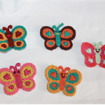5 pack mixed crochet Butterfly embellishments