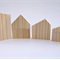 WOODEN HOUSE Blocks, DIY Christmas Village, Pine, Building Blocks