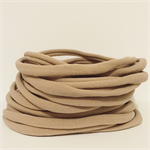 Wholesale 10 Quality Nude Nylon Headband/ One Size Fit All(Newborn to Adult).