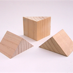 WOODEN TRIANGLE BLOCKS, Pine, Building Blocks, Toymaking, Set of 3