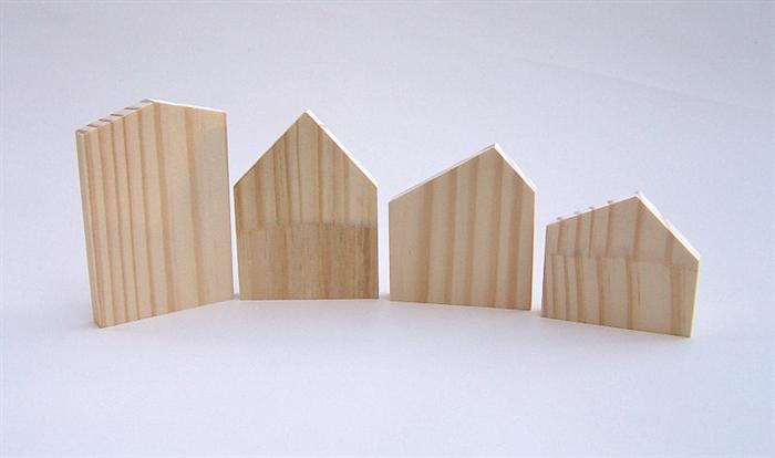 Sensational Wooden House Blocks Diy Christmas Village Pine Building Home Interior And Landscaping Mentranervesignezvosmurscom
