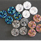 LAST SET 16 Resin 12mm Sparkling Druzy Cabochons -4 Colours
