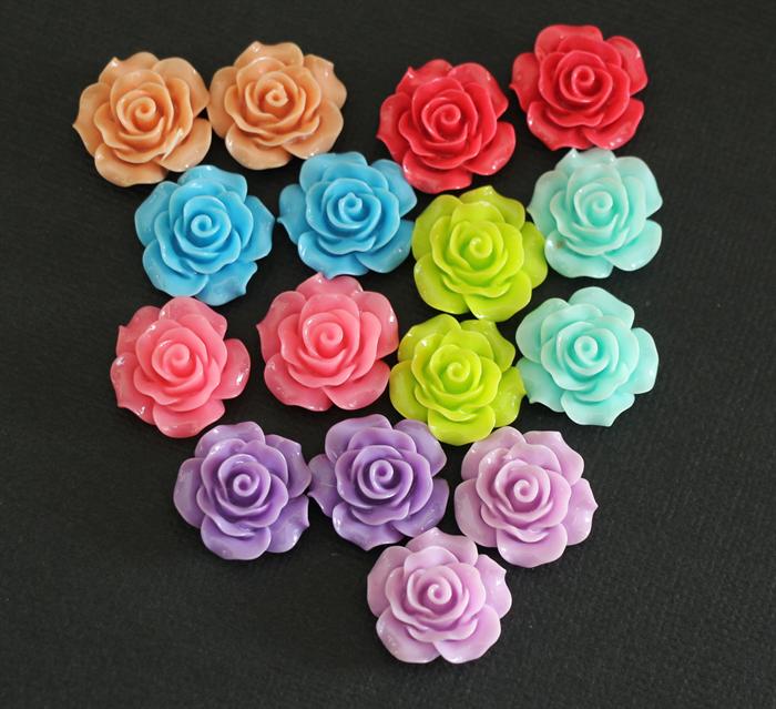 16 Vintage Rose Cabochons   GemmaJoy   Craftumi.com.au