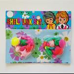 Vintage 1970's Shell Bead Set Plastic