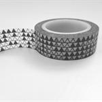 B&W Triangles Washi Tape 15mm x 10mts