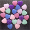 24 Resin Heart Cabochon Embellishments Flatback - Purple Mint Blue Pink