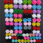 104 Mixed Resin Flower Cabochon Embellishments Flatback (ONLY $0.36 PAIR!)