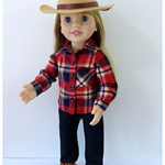 Doll clothes patterns 2033 Boy Friend Shirt for Australian Girl Doll