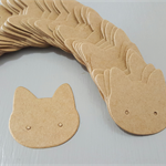 50 KITTY Kraft Earring Display Cards