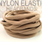 10 Nylon Headbands Stretch Elastic 8mm Thin One Size Fits All  30-34cm Nude