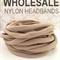 50 Nude Nylon Elastic Headband 30-34cm Free Shipping