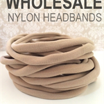 THIN Nude Nylon Headband - 50 pieces - 70 Cents Each  