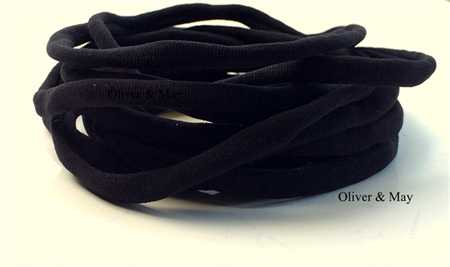10 Pieces Black Stretch Nylon Elastic Headbands 8mm 30-34cm