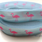 Pink Flamingo FOE- 5/8 inch 16mm - Foldover Elastic for Hair Ties Headbands