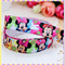 Minnie Mouse FOE- 5/8 inch 16mm - Foldover Elastic for Hair Ties Headbands Laces