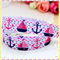 Nautical Boats FOE- 5/8 inch 16mm - Foldover Elastic for Hair Ties Headbands