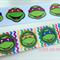"Ninja Turtle Grosgrain Ribbon - Hair Bow Cake Ribbon 7/8"" 22mm 2mtrs"