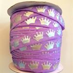 "1mPurple Silver Princess Crown FOE 5/8"" 16mm  Foldover Elastic Headbands Cakes"
